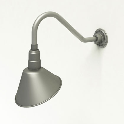 Angle Light Shade Exterior Gooseneck