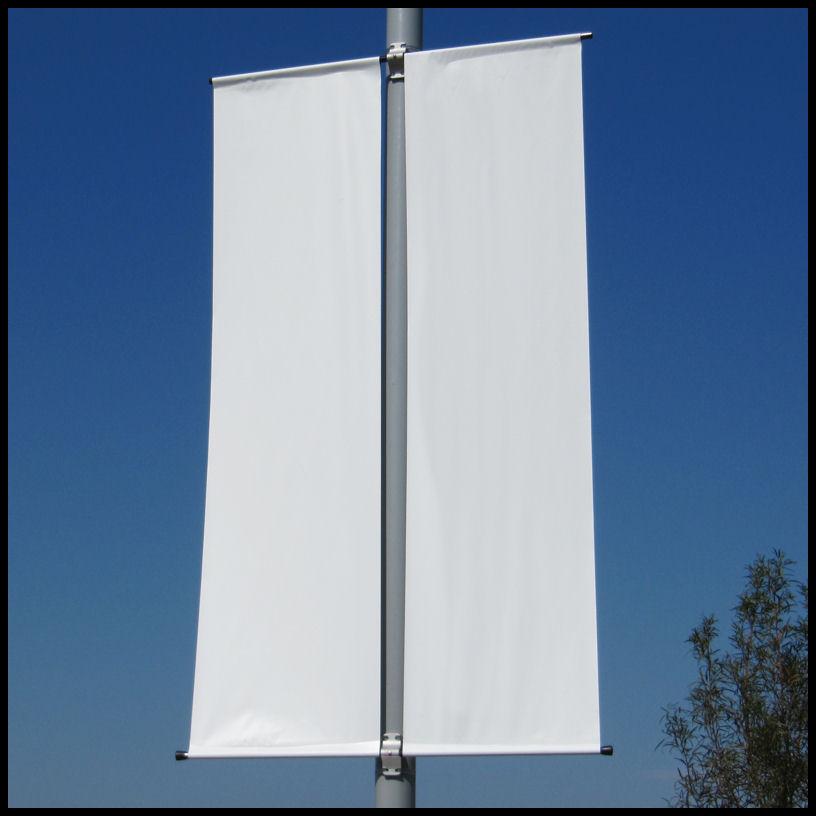 Fiberglass Fixed Pole Banner Brackets