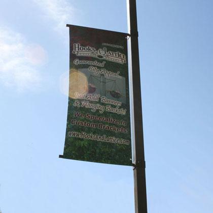 Post Mount Banner Brackets