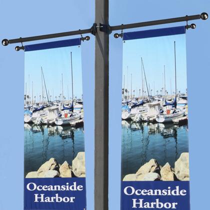 Trapeze Style Pole Mount Banner Brackets