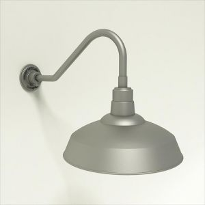 Quick Ship 17in. Warehouse Shade Goosenck Light - 6 Gooseneck Arm Options
