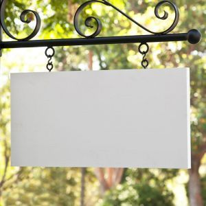"26"" x 13"" Rectangle Sign Blank - Square Corners"