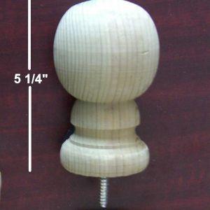 """3"""" B1 Wood Ball Finial - Standard Grade"""