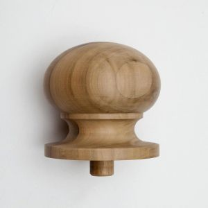 "3"" Wood Decorative Finial- Furniture Grade, Style D5"