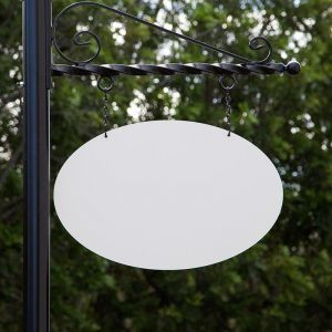 26in. Oval Poly Metal Sign Blank