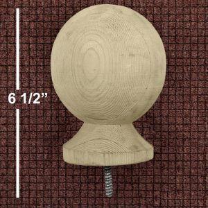 """4"""" B3 Wood Ball Finial - Standard Grade"""