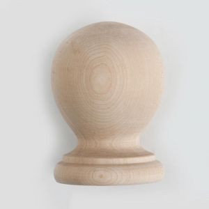 "7""  Wood Ball Finial- Furniture Grade, Style B5"