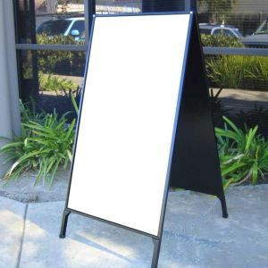 A-Frame Folding Sidewalk Sign with Blank Panel Insert