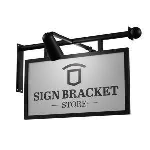 Bel Forte Lighted Sign Bracket with Framed Sign