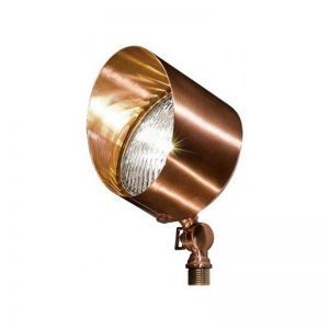 Brass Directional Spot Light With Hood - 12V Low Voltage