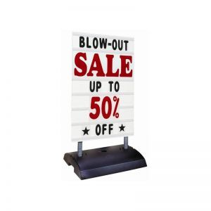 Changeable Letter Sidewalk Sign - High Wind Sign