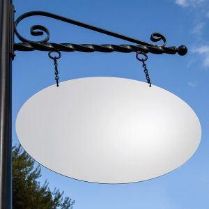 26in. Oval Aluminum Composite Sign Blank