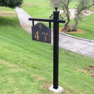 Golf Tee Box Marker Post