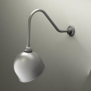 "Gooseneck Light - 22-1/4""L x 1/2"" Dia Arm -  12"" Domed Shade"