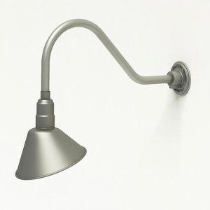 "Gooseneck Light Aluminum- 22.5""L x 3/4"" Dia Arm - 10"" Angle Shade"