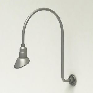 "Gooseneck Light Aluminum - 25.25"" W x 39"" H, Arm - with 7in. Angle Shade"