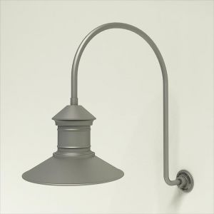 "Gooseneck Light Aluminum - 25.25"" x 39"" Arm with 16"" Barn Light Shade"