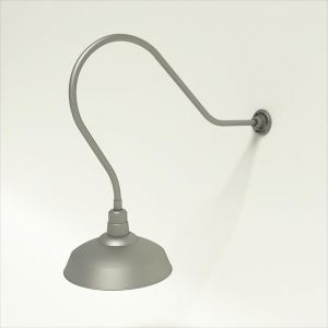 "Gooseneck Light Aluminum- 35 1/4""L x 3/4"" Dia. Arm with 16"" Warehouse Shade"