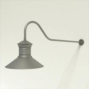 "Gooseneck Light Aluminum - 48.25"" x 3/4"" Dia. Arm with 18"" Barn Light Shade"