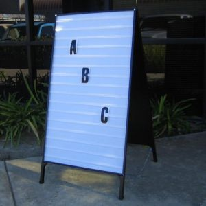 Portable A-Frame Changeable Letter Folding Signs