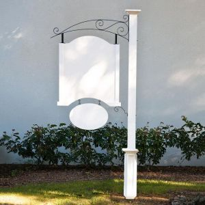 Nantucket Single Post and Panel Sign System