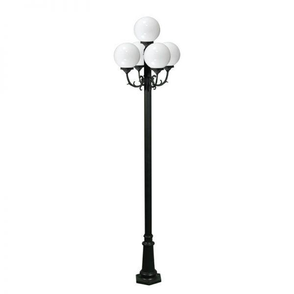 Globe Street Light 5 Lamps, Globe Outdoor Light Post