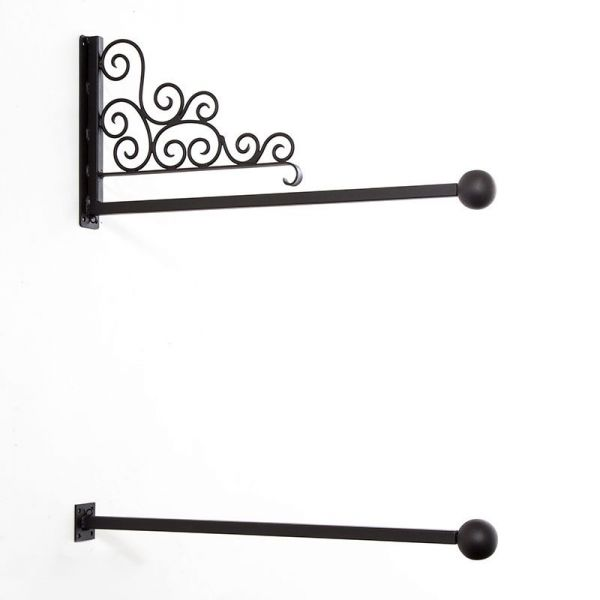 Decorative Scroll Banner Bracket Wall Mount With Ball Finials Are you searching for scroll banner png images or vector? sign bracket store