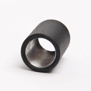 """1/2"""" dia. X 1.5"""" Aluminum Coupling - Black"""