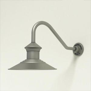 "Aluminum Gooseneck RLM Light 12"" Barn Light Shade w/ 18"" x 1/2"" Dia. Arm Extension"