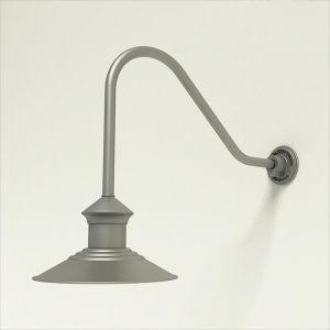"12"" Barn Light Shade w/ Gooseneck Arm Extension - 22.25"" x 1/2"" Dia. Arm"