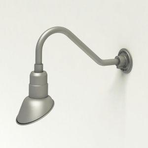 "Aluminum Gooseneck RLM Light - 18""L x 1/2"" Dia. Arm with 7"" Angle Shade"