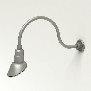 "Aluminum Gooseneck RLM Light - 24-3/4""L x   3/4""  Dia Arm - 7"" Angle Shade"