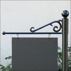 "30"" Premium ""S"" Scroll Slip Over Sign Bracket"
