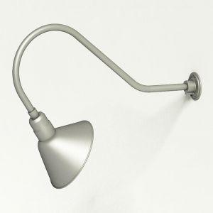 "Aluminum Gooseneck RLM Light - 35.5""L x 13.5""H, 3/4"" Dia. Arm with 12"" Angle Shade"