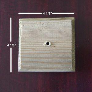 "4""x4"" Square Wood Post Cap"