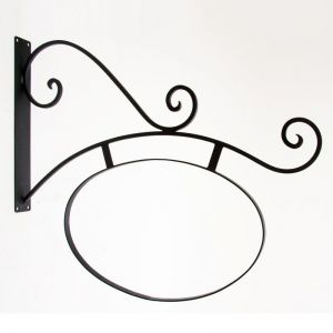 """40"""" Milano Sign Bracket with Fixed Frame and Sign Blank"""