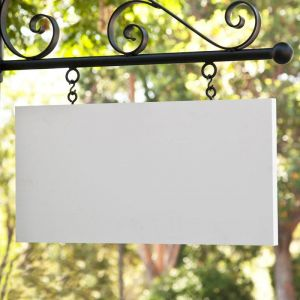 """46"""" x 23"""" Rectangle Sign Blank - Square Corners"""