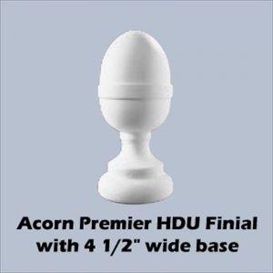 """4 1/2"""" Dia. Full Small Acorn Newel Post Top"""