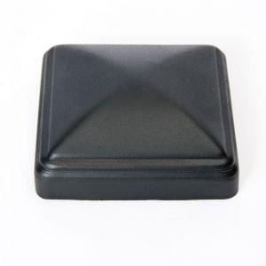 "Aluminum thin wall post cap for 4""x4"" square post - Black"