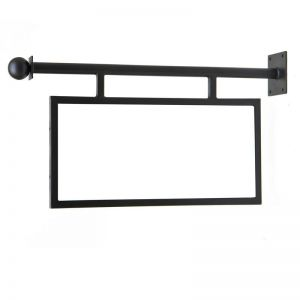 "Bel Forte Sign Bracket with Framed (non-swinging) Sign Frame. Comes with 30""x15""x1"" thick sign blank"