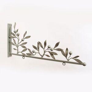 Custom Sign Bracket  - Antique White Olive Leaves