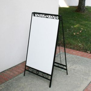Decorative A-Frame Folding Sidewalk Sign