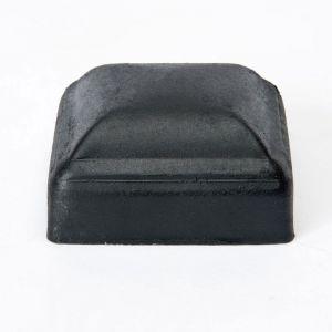 "Galvanized thin wall post cap for 3""x3"" square post - Black"