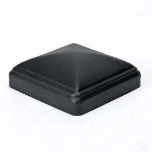 "Galvanized thin wall post cap for 4""x4"" square post - Black"