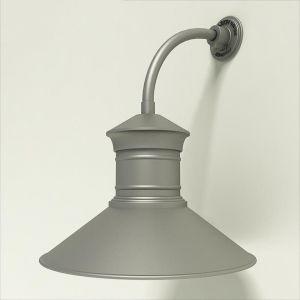 "Gooseneck Light Aluminum -10"" x 3/4"" Dia. Arm with 18"" Barn Light Shade"