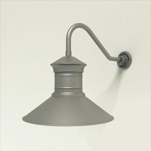 "Aluminum Gooseneck RLM Light -18"" x 1/2"" Dia. Arm with 18"" Barn Light Shade"