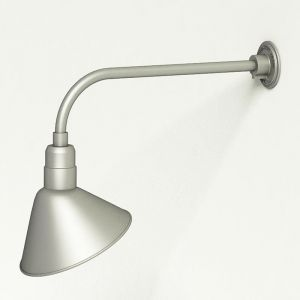 """Gooseneck Light Aluminum - 23"""" W x 7.5"""" H, Arm - with 12in. Angle Shade"""