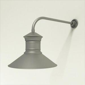 "Gooseneck Light Aluminum - 23"" x 3/4"" Dia. Arm with 18"" Barn Light Shade"