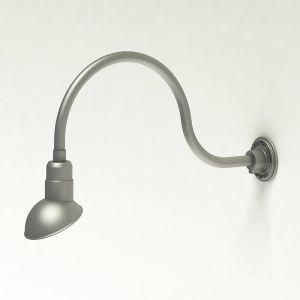 "Aluminum Gooseneck RLM Light -24-3/4 ""L x   3/4""  Dia. Arm with a 7"" Emblem Shade"