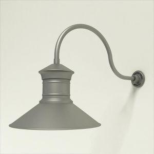 "Aluminum Gooseneck RLM Light - 24.75"" x   3/4""  Dia. Arm with 18"" Barn Light Shade"